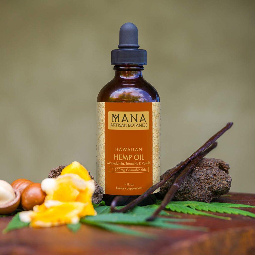 hawaiana CBD aceite: cúrcuma y vainilla